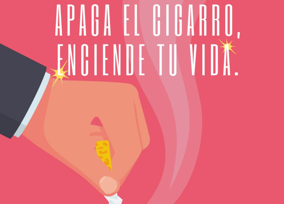 Comprometerse a dejar de fumar. Día Mundial Sin Tabaco 2021.